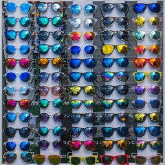 Don't look (alxfink) Tags: abstract reflection london lines sunglasses lumix glasses market camden structure colourful quadrat