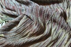 shibori shawl close up (Zip Eye) Tags: textile handwoven handwovenshibori