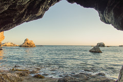 Shell Beach Cave (saige_reynoso) Tags: ocean sunset beach cave