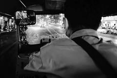 Tuk Tuk in Bangkok (Louis PERPERE) Tags: street white black thailand noir bangkok tuktuk blanc tuk thailande