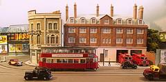 City Road fire station (kingsway john) Tags: london transport tram model 176 scale oo gauge layout diorama kingsway models card building kit fire station miniature