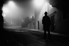 noir city (i k o) Tags: city urban blackandwhite bw silhouette fog night mood filmnoir sonynex3 fujian35mmf17