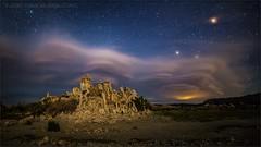 Mars Attacks (TomGrubbe) Tags: california mars cloud lake night stars landscape moonlight monolake tufa lenticularcloud easternsierras leevining