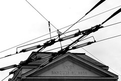 trolley bus power (overthemoon) Tags: bw lines schweiz switzerland energy power suisse angles lausanne powerlines electricity svizzera generation transmission ubs vaud stfranois romandie utata:project=generationtransmission