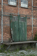 The green door (dierickx.d) Tags: street door building barn outdoor worn