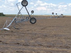 Wind damage near Akron, Colorado from thunderstorms on May 24, 2016. (National Weather Service)