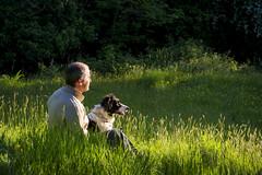 Me and my dog (Keartona) Tags: poppy me meadow sunlight summer grasses sitting enjoying sunshine green england