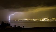Foudre sur le lac Lman (MarKus Fotos) Tags: lake storm france landscape switzerland suisse lac lausanne bolt strike thunderstorm leman lman thunder f4 eclair orage lavaux orages clair foudre clairs thunderstrike saintpaulenchablais
