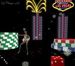 Lady Luck (Kat Feldragonne) Tags: vegas gambling dance avatar performance poker showgirl secondlife cabaret burlesque