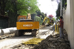road repair in philippines (DOLCEVITALUX) Tags: road outdoor philippines pipes roadrepair
