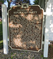 Birthplace of the Republican Party Marker (Ripon, Wisconsin) (courthouselover) Tags: wisconsin schools roadsideamerica wi gop ripon republicanparty fonddulaccounty