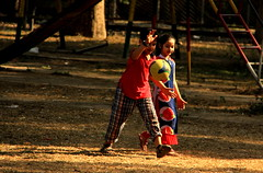 ~moments~ (~~ASIF~~) Tags: light shadow red color green yellow kids ball moments play outdoor canon60d