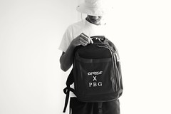 DA REELZ  X  P B G- PHOTO SHOOT (jeremiahwilson) Tags: light blackandwhite black look hat fashion photography photoshoot lifestyle backpack streetwear