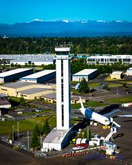 The Paine Field Control Tower (AvgeekJoe) Tags: nikon aerial aerialphoto dslr aerialphotography controltower aerialphotograph painefield kpae aircontroltower d5300 nikond5300