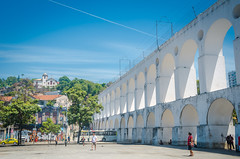 Landmark white arches of Arcos da Lapa (Luz Rosa Photography) Tags: arches architecture arcosdalapa bluesky brasil brazil brazilian cariocaaqueduct city clearsky color day de destinations famous famousplaces horizontal janeiro landmark landmarksoftheworld lapa lapaarches nobody outdoors photo photograph photography places rio riodejaneiro santateresa sightseeing sky southamerica southamerican touristattractions travel tropical world