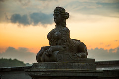 Guardian lady (RuneKC) Tags: sunset summer clouds denmark hunting lodge hermitage deerpark