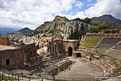 Taormina-Greek Theater (doveoggi) Tags: italy theater sicily taormina 7236