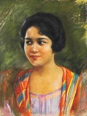 Jorge Pineda: Dalaga (Leo Cloma) Tags: gallery antique auction philippines leon antiques makati cloma