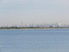 New York City Skyline, as seen from Rockaway Park, Queens, June 19, 2016. (NYMAN2010) Tags: park newyorkcity newyork skyline skyscraper spring skyscrapers queens empirestatebuilding wtc rockaway jamaicabay woolworthbuilding beekmantower tributepark oneworldtradecenter 30parkplace threeworldtradecenter