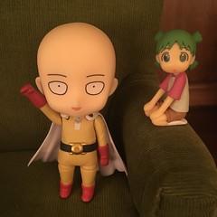 Saitama & Yotsuba (Ringochan39) Tags: saitama yotsuba nendoroid onepunchman