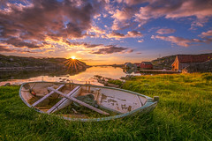 Out of its element. (BjrnP) Tags: boat boathouses sea seascape landscape sky clouds sun reflection light colors bjrn peder bjrkeland egersund rogaland norway explore bravo