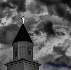 100 Days of Summer #14 - Majesty (elviskennedy) Tags: noah roof sky blackandwhite house storm lightpainting david building film church up rain hail wisconsin architecture angel clouds dark outside high war worship gloomy christ cross dynamic god kodak outdoor sony jesus scenic elvis grace jackson moses belfry angels cumulus gathering devil bible thunderstorm agfa range wi congregation kennedy hdr highdynamicrange cumulonimbus davidsstar impending fuju rx1 wwwelviskennedycom elviskennedy rx1r rx1rii dscrx1rii