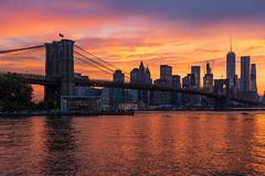 New York Sunset (cvillandry (Instagram & Twitter @cvillandry)) Tags: city nyc newyorkcity newyork brooklyn manhattan dumbo brooklynbridge