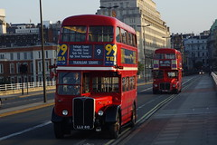 Waterloo Sunrise (gooey_lewy) Tags: bridge red moon bus london buses night dark long er time tate britain events transport double line route master waterloo routemaster rt tle ensign decker rm 882 aec wlt 610 llu 3251 ensignbus er882