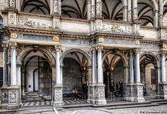 The city hall's Renaissance style Loggia of 1573 (PhotosToArtByMike) Tags: germany europe cityhall dom cologne rathaus oldtown renaissance koln rhineriver klnerdom loggia oldtownhall colognegermany colognecityhall klnerrathaus rathauslaube oldquarterofcologne
