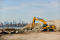 new view (nicknormal) Tags: construction queens helicopter hunterspoint gentrification backhoe longislandcity freedomtower oneworldtrade