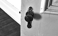 There's Always Another Door to Open (BKHagar *Kim*) Tags: door bw white house black detail home monochrome turn vintage handle floor doorknob historical knob circa 1872 bkhagar williampowersnewman