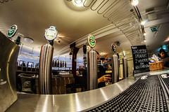At the bar (Mad_m4tty) Tags: city travel beer bar copenhagen denmark pub drinking fisheye pump brewery pint tours carlsberg kbenhavn
