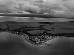 Looking due south in B&W (ccgd) Tags: cromarty firth intheair scotland highlands flying