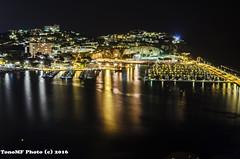 Puerto deportivo por la noche (tonomf) Tags: sea espaa port reflections landscape puerto luces noche mar spain nikon nocturna turismo costabrava catalua reflejos nikond5100