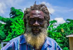 Rasta Man (StevePilbrow) Tags: old blue people man hot green love sunshine june shirt dreadlocks beard outdoors one nikon teeth jamaica wise local wisdom nikkor rastafarian jah haile selassie 2016 18105mm d7200