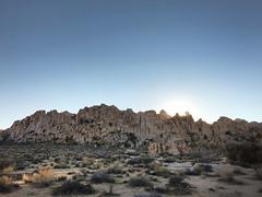 Sun Setting (Sam Howzit) Tags: california sunset mountain nationalpark desert joshuatree hemingway joshuatreenationalpark