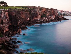 North-Coogee-Bay-NSW-Watercolour-PS (olliebroadie) Tags: cliffs watercolour coogee seafoam coogeebeach ndfilter coogeebay beachfoam coogeensw