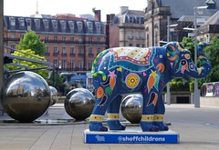 Herd of Sheffield elephant sculptures (15) (Simon Dell Photography) Tags: herdofsheffield herdof sheffield herd eliphants statues town city sculptures colorfull awsome 2016 trail see find them locations