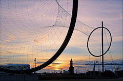 Temenos Sundown (DWH284) Tags: sculpture clocktower middlesbrough anishkapoor teesside temenos teestransporterbridge