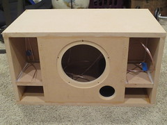 Bottom is glued on Boombox (burritobrian) Tags: diy speaker boombox overnightsensations speakerbuild sd215a88