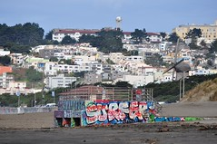 Ocean Beach, San Francisco (~doug>) Tags: sanfrancisco graffiti surfer oceanbeach