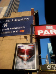 Man of Steel - New Superman Billboard theater Poster 0320 (Brechtbug) Tags: street new york city nyc blue red man work dark comics painting movie poster square book dc paint theater comic near steel character alien bat working broadway s superman billboard advertisement adventure hero superhero billboards knight worker shield times insignia krypton 46th 2013