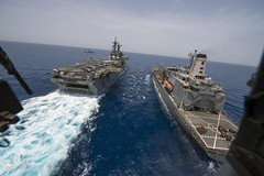 Ships conduct repleishment in the Red Sea. (Official U.S. Navy Imagery) Tags: heritage america liberty freedom commerce unitedstates military redsea navy sailors fast worldwide tradition usnavy protect deployed flexible onwatch beready defendfreedom warfighters nmcs chinfo sealanes warfighting preservepeace deteraggression operateforward warfightingfirst navymediacontentservice