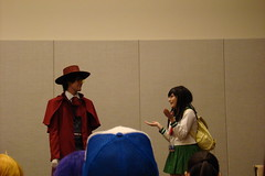 In-Character Cosplay Challenge V (Merle Tsuki) Tags: panel cosplay improv inuyasha alucard kagome phxcc2013