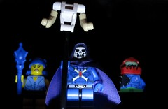From the darkness (Hobbestimus) Tags: lego heman skeletor mastersoftheuniverse evillyn trapjaw