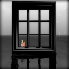 Light in the window (Bear Silvershade) Tags: secondlife metaverse virtualworlds singleframestories