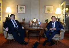 """L. Linkevičius (LT) and S. Lavrov (RU) CBSS 18th Ministerial Session • <a style=""""font-size:0.8em;"""" href=""""http://www.flickr.com/photos/61242205@N07/9004874063/"""" target=""""_blank"""">View on Flickr</a>"""
