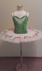 Classical ballet tutu (mongyandweasel) Tags: pink flowers ballet white green net dance costume crystals lace silk classical applique tutu