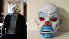 DARK KINGHT JOKER BOZO MASK (Dean Hartmann) Tags: dark mask bank heath joker knight robbery bozo tdk ledger heist