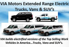 Electric Pick-Up Truck by VIA Motors (viamotors) Tags: cars up electric truck work pickup motors via vehicles vans trucks extended van pick suvs suv range extendedrange